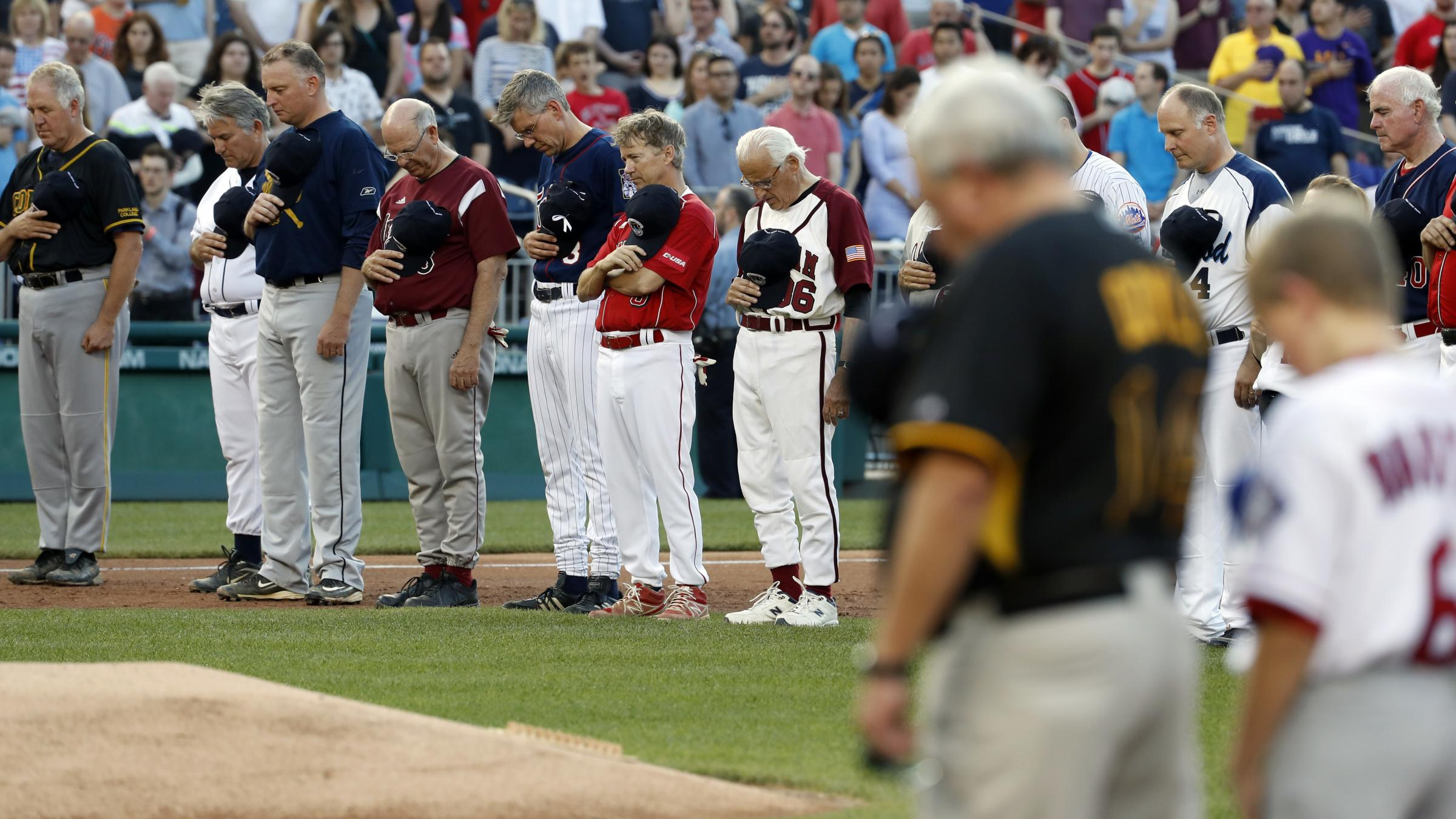 Trump Says 'Let's Play Ball' At Record Turnout For Congressional Baseball Game
