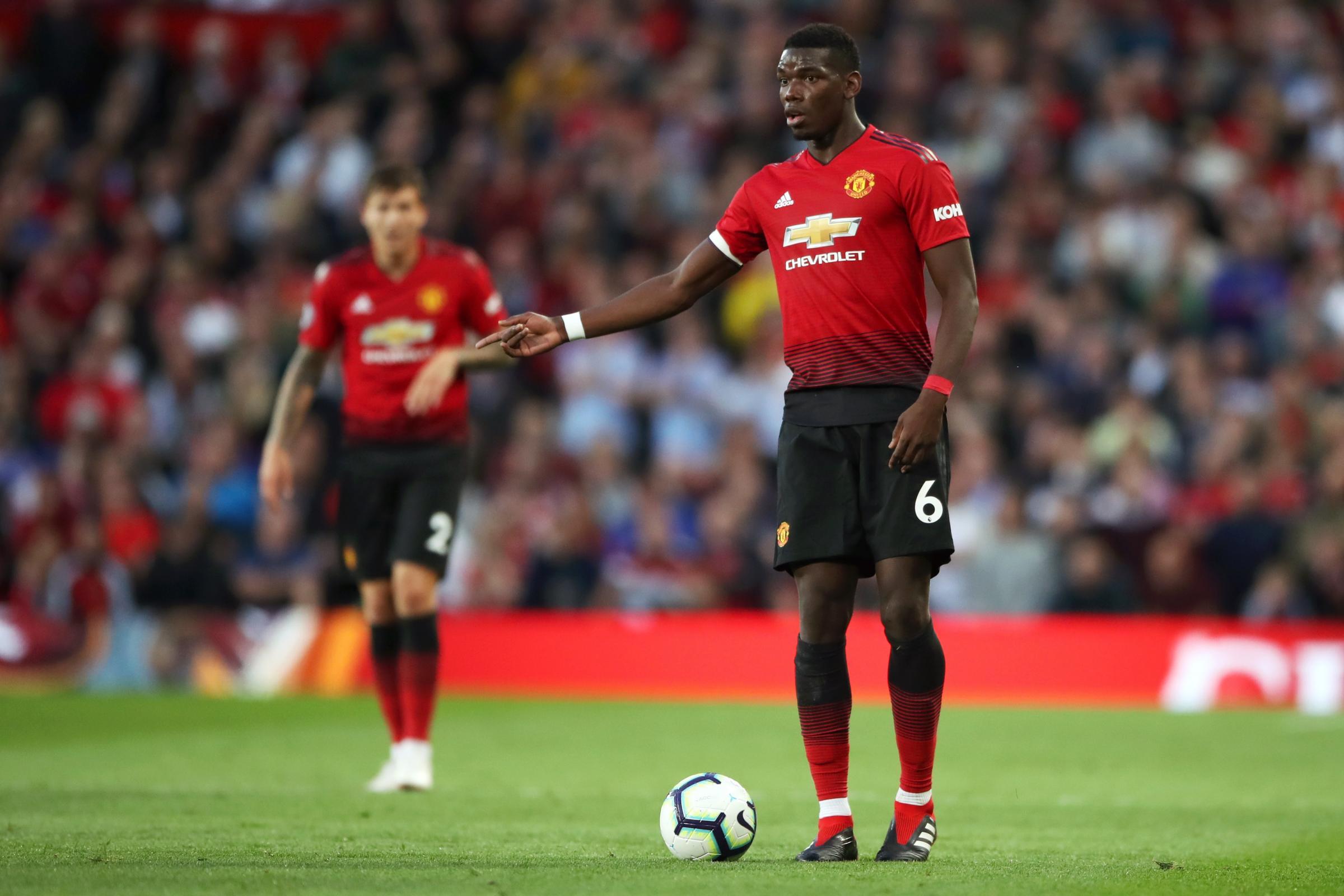 Jose Mourinho reacts after Paul Pogba's